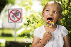 No lollipops. Arrest her.