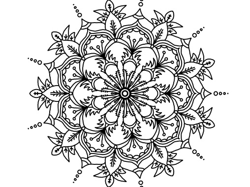 Cool Mandala Drawing 7