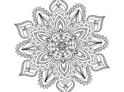 Cool Mandala Drawing 6