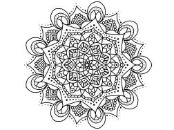 Cool Mandala Drawing 4