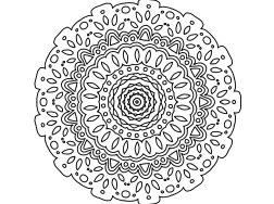 Cool Mandala Drawing 3