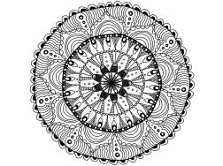 Cool Mandala Drawing 1