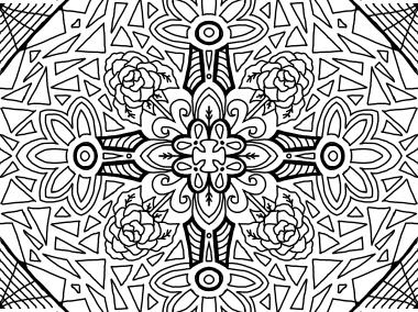 Cool Mandala Drawing 13