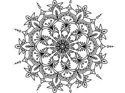 Cool Mandala Drawing 9