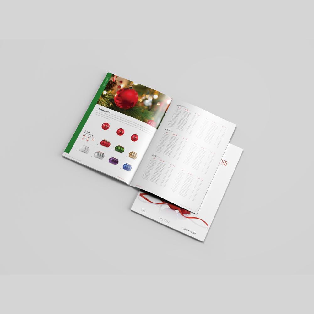 ChristmasDesigners.com spread and cover.
