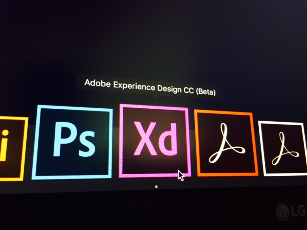 Adobe XD Icon on Screen