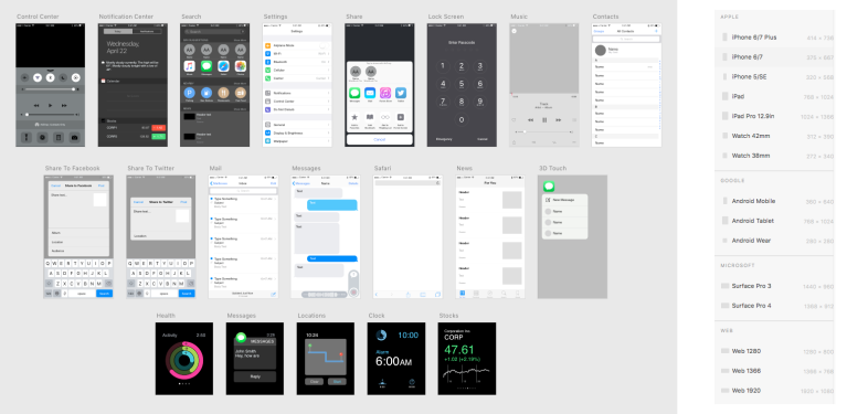 Screenshot of Adobe XD Features
